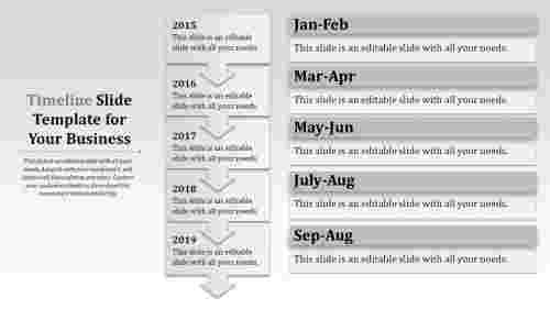 Timeline slide template-Vertical model