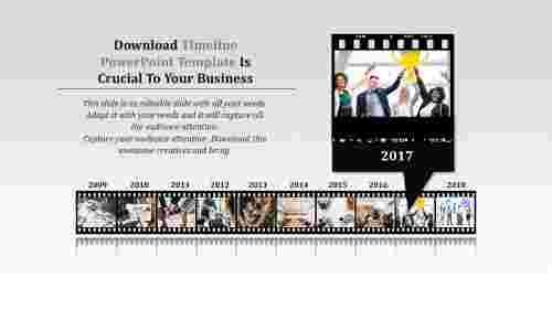 Conceptual Download Timeline Powerpoint Template