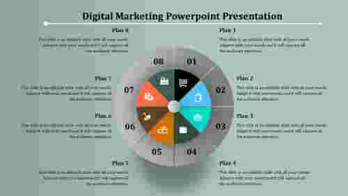 Digital Marketing Powerpoint Presentation with Circular Loop Design