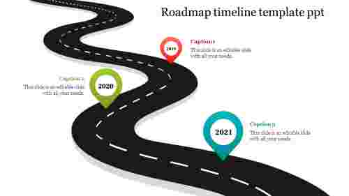 Best Road map timeline template PPT