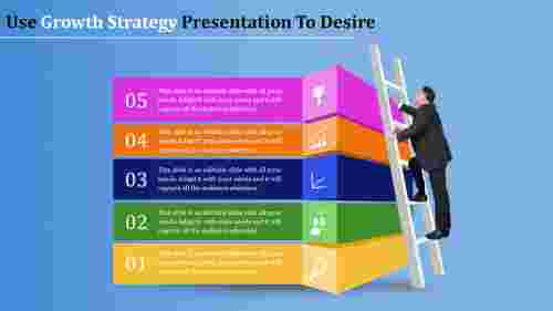 growth strategy presentation with ladder image