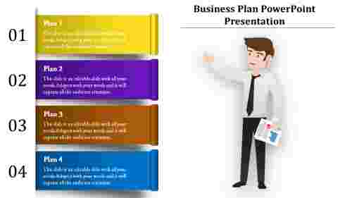Business Plan Powerpoint with silhouette