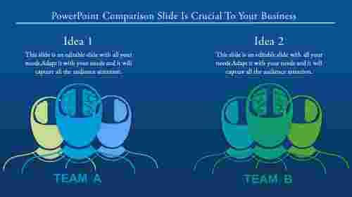 powerpoint comparison slide