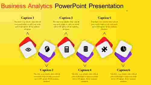 business analytics powerpoint with yellow color