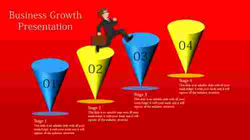 business growth presentation PPT-cone designs