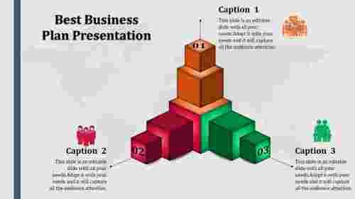 Bestbusinessplanpresentationwithcubesdesign