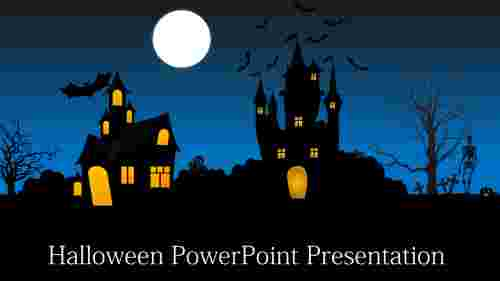 Scary halloween powerpoint template