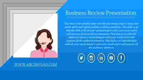 review ppt template-business review presentation