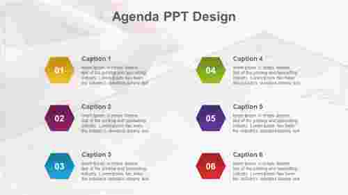 agenda ppt design-Hexagonal model