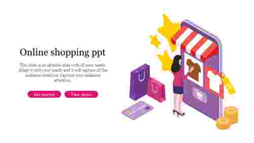 Amazing online shopping PPT