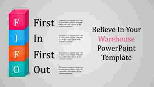 Warehouse powerpoint template-FIFO model