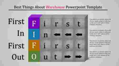 Warehouse powerpoint template-Cube design