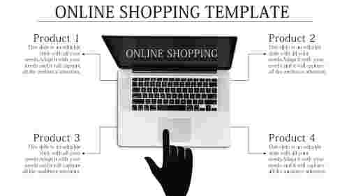 Online shopping PPT with Clipart