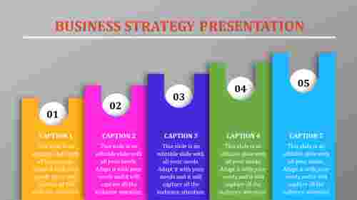 Ascending ordered business strategy template