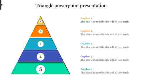 Editable Triangle Powerpoint Template
