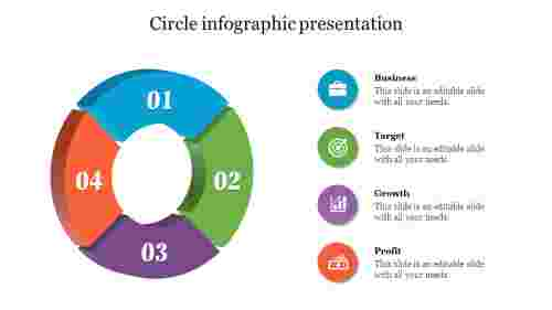 3D Circle Infographic Powerpoint Presentation