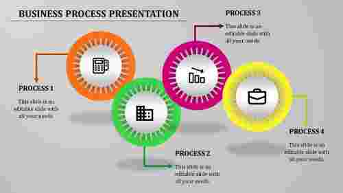 Amazing simple business process powerpoint