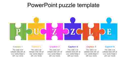 Awesome  powerpoint puzzle pieces template