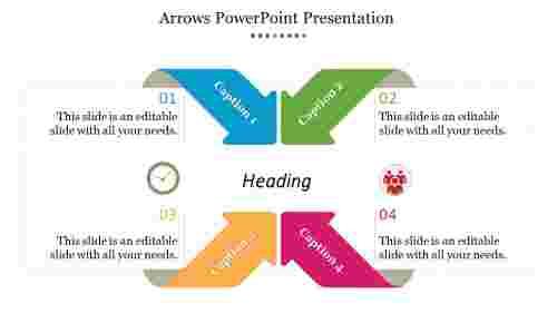 Creative Arrows Powerpoint Templates