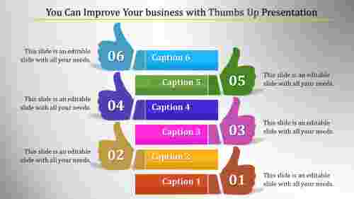 thumbs up powerpoint-You Can Improve Your business with Thumbs Up Presentation