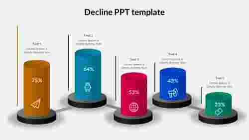 decline ppt template