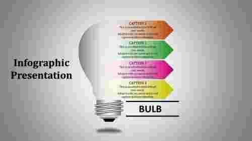 Editable Bulb Infographic Presentation