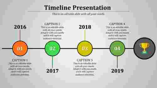 connected slide timeline template
