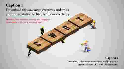 Wooden-SWOTPPTtemplate