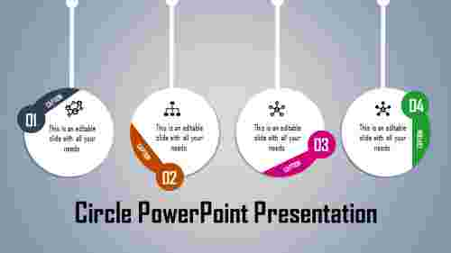 Circle powerpoint template - hanging model