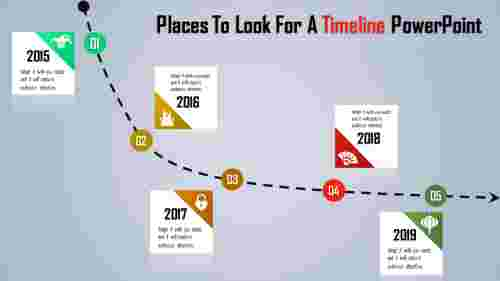 Download Timeline Powerpoint Template - Curve model