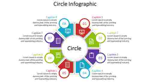 Colorful Circle Infographic Powerpoint