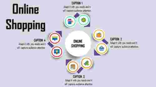 Infographic Online Shopping PPT