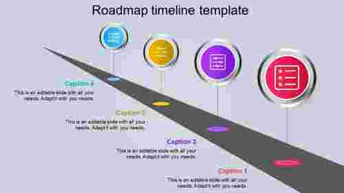roadmap timeline template-diagonal model