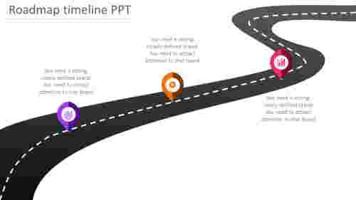 Journey roadmap timeline PPT