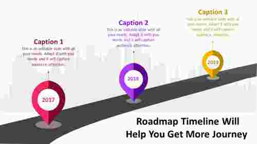 Business journey roadmap timeline powerpoint
