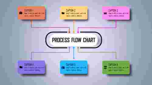Infographic Process Flow Chart Template.