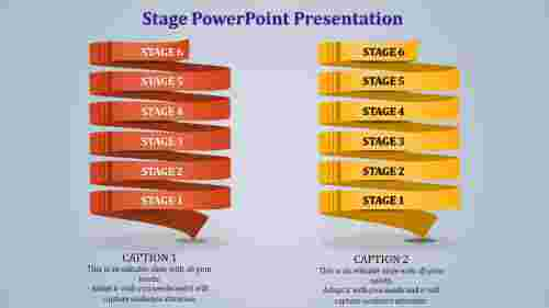 Spiral Stage powerpoint template