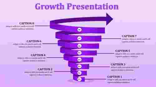 Spiral growth ppt template