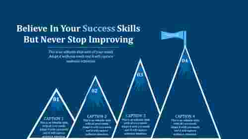 success powerpoint template-Believe In Your Success Skills But Never Stop Improving