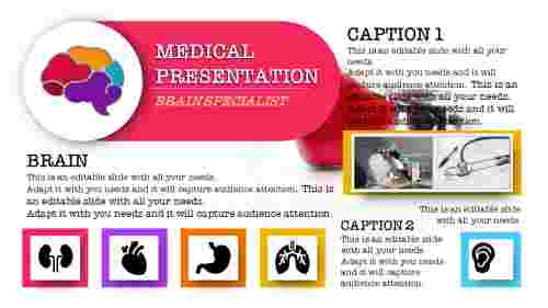 Best medical powerpoint templates with Portfolio design