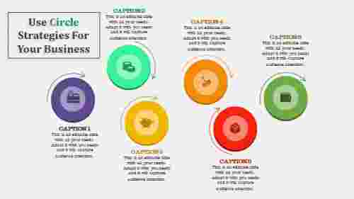 circle powerpoint template - zigzag model