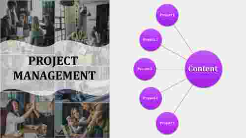 Best project management powerpoint template with portfolio design