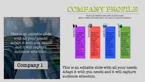 company profile template PPT