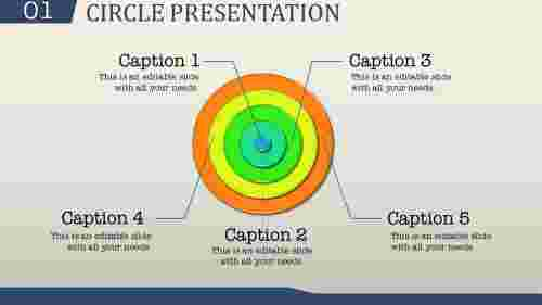 Circle powerpoint template-Concentric design