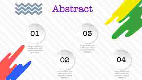 abstract PPT template-illustration model