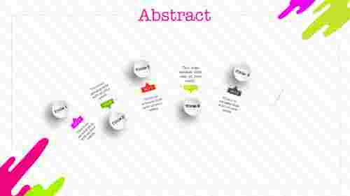 Creative abstract PPT template