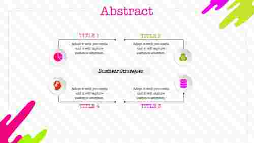 attractive illustration abstract powerpoint template