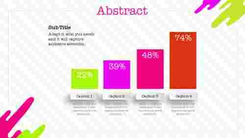 painting model abstract PPT template