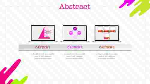 Abstract powerpoint templates with three levels