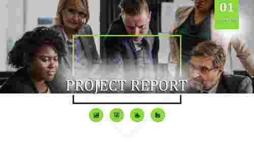 Portfolio Project Report Powerpoint Template
